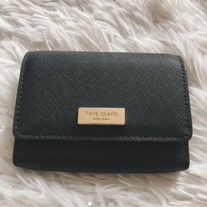 Kate Spade Black saffino leather wallet/coin purse